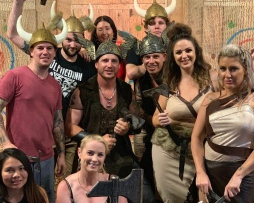 West-End-Central-Lumber-Punks-Axe-Throwing-group-party